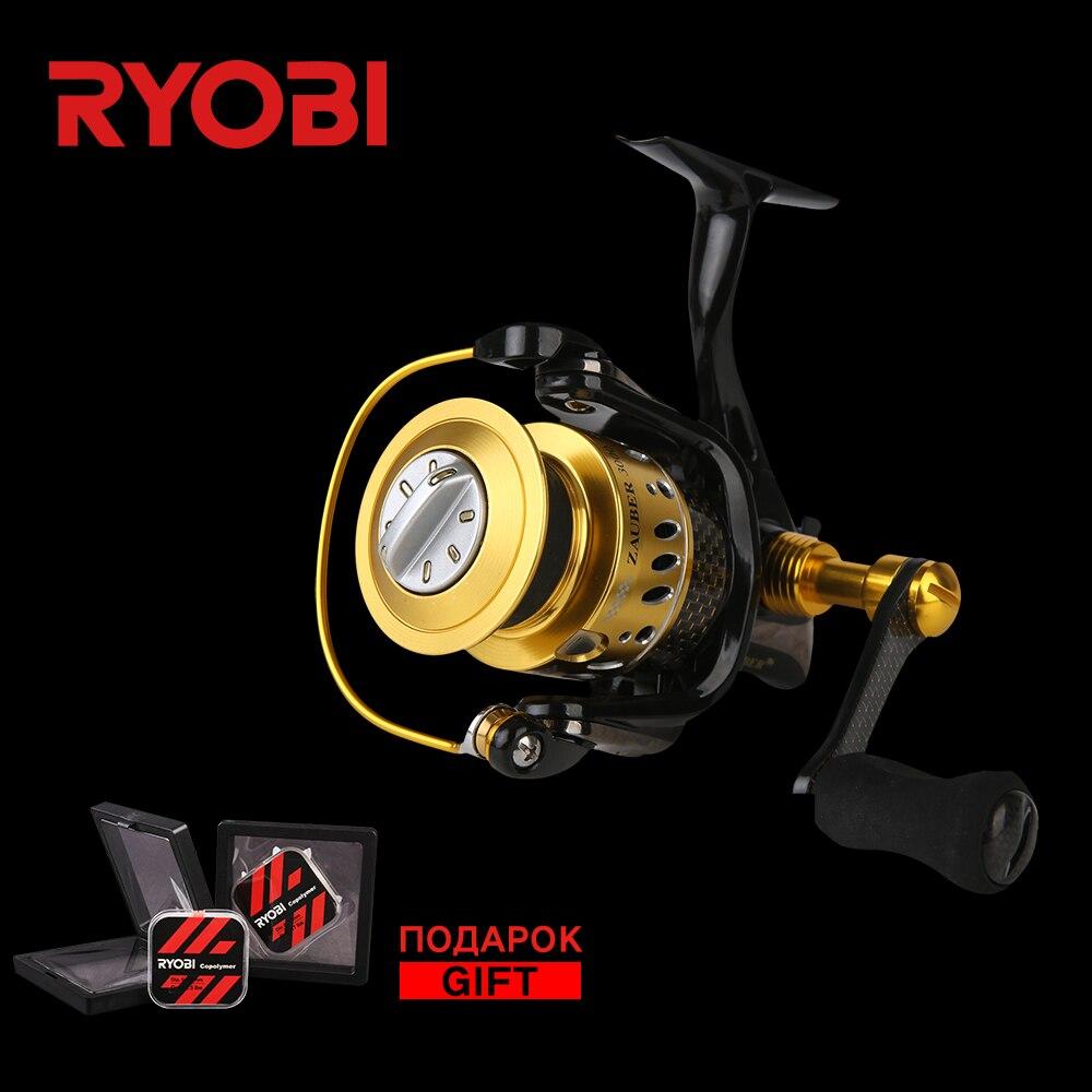 RYOBI ZAUBER CF 2000 4000 металлический корпус колеса карбоновая ручка плоская EVA ручка 10 Подшипники алюминиевая катушка скорость Спиннинг рыболовная...