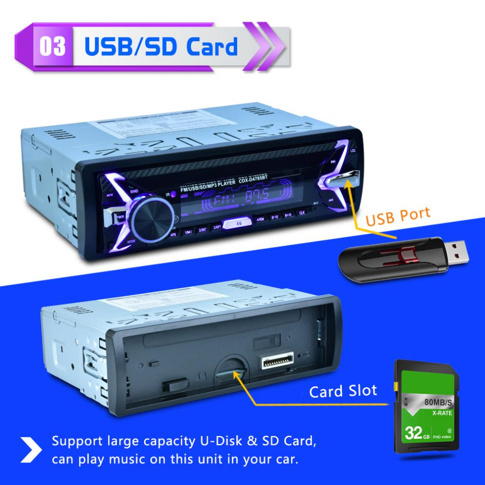 Stereo AUX x USB