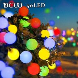 Globo Solar LED Luzes Cordas Multicolor 50 LEDs Bola Festa de Fadas Luzes Do Jardim Decoração do Casamento Do Feriado Ao Ar Livre Iluminação