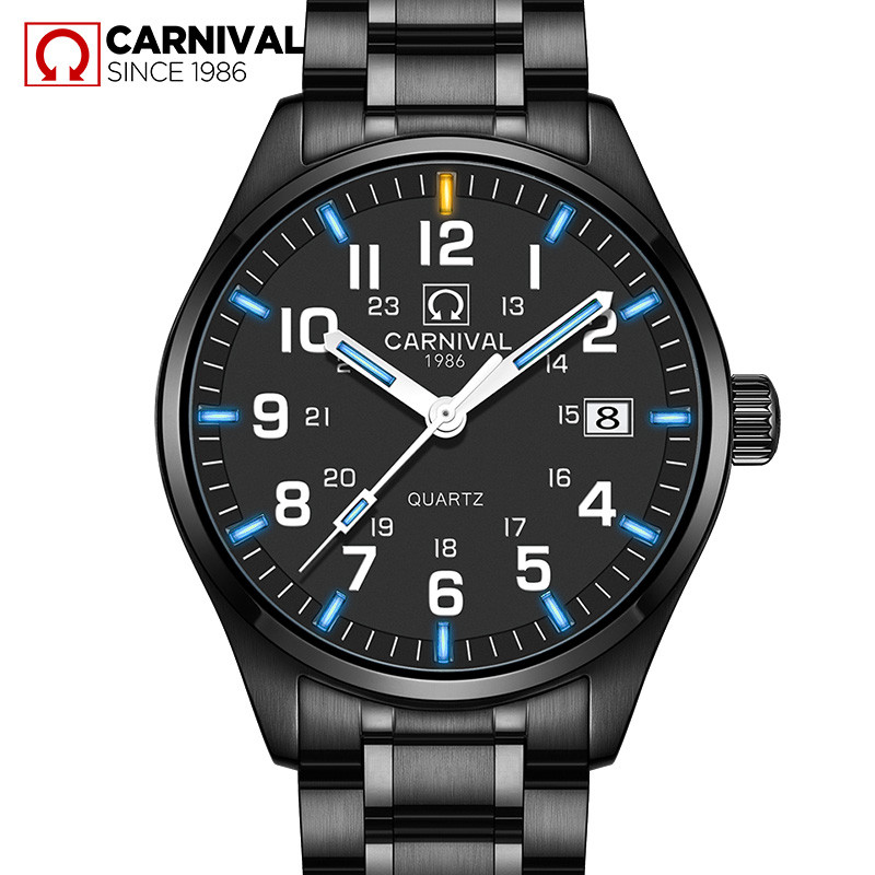 Carnival Luxury Brand Watch Men Quartz Men Watches Tritium Light Luminous Watch Male Waterproof Military reloj hombre C8638G-6Carnival Luxury Brand Watch Men Quartz Men Watches Tritium Light Luminous Watch Male Waterproof Military reloj hombre C8638G-6