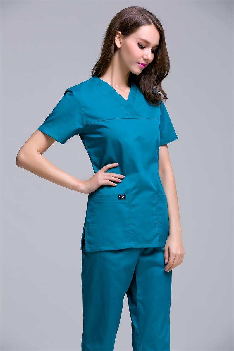 Surgical Cap Limited 2017 Medical Clothing Uniform Hospital Lab Coat Korea Style Women Scrub Clothes Fashion Design Breathable