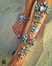 Hot New Fashion 2016 Ankle Bracelet Wedding Barefoot Sandals Beach Foot Jewelry Sexy Pie Leg Chain