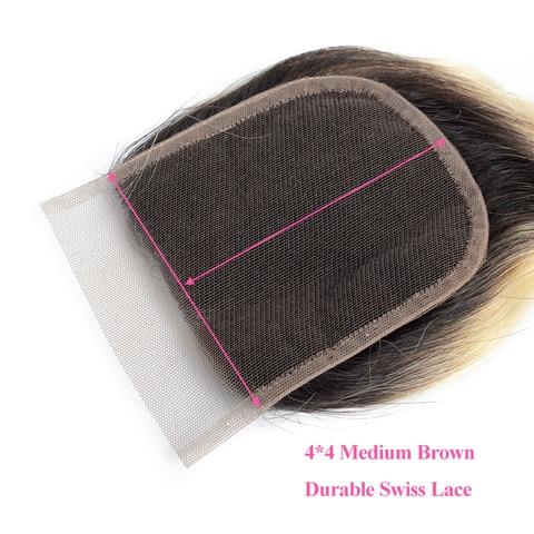 bling hair 1b/613 Blonde Brazilian Hair Body Wave Lace Closure 4*4 Free/middle/three Part Human Hair Closure 100% Remy 8-22 Inch Karachi
