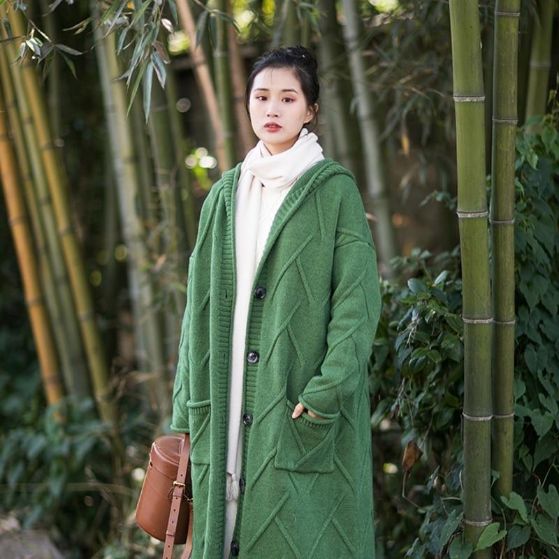 À Chandail Collection rose Longue Oversize 2019 Vert Cardigan Capuche Vintage Vert Femmes Irinay504 Nouvelle XpH6qX1