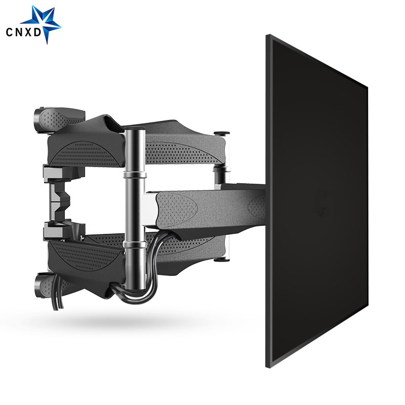 "Full Motion 32""-60"" LCD LED TV Wall Mount Retractable TV Rack Wall Mount Lcd Bracket 6 Swing Arms MAX VESA 400x400mm 2"