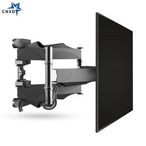 Image 2 - Наклонно поворотный настенный кронштейн для ЖК, LED ТВ 32 60 дюймов, выдвижная стойка для телевизора, настенное крепление для ЖК ТВ с 6 поворотными рычагами, MAX VESA 400x400 мм