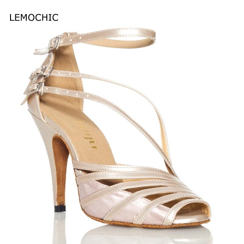 LEMOCHIC newest comfortable salsa ladies ballroom dance latin tango jazz tap samba high quality adult female models dance shoes