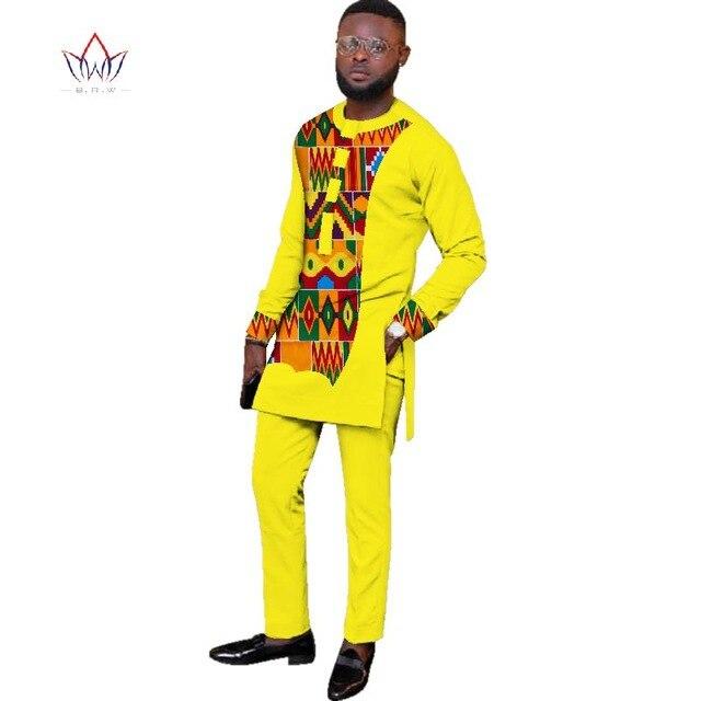 6XL africain hommes coton costume costume nouvelle version à manches longues respirant rétro style national printemps automne vêtements lâche costume