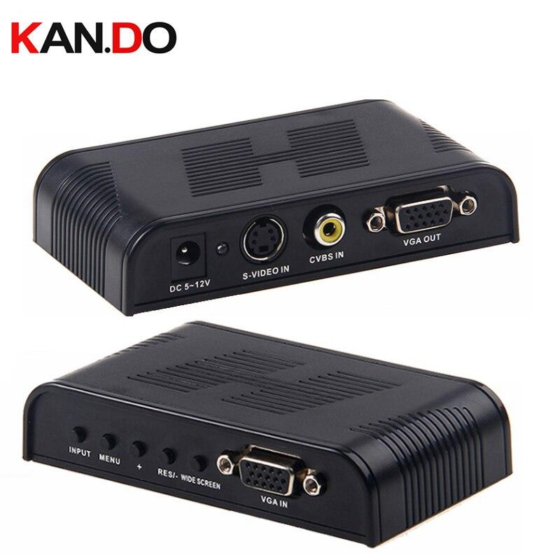 7505 Composite CVBS Video Convertor AV & S Video To VGA  CVBS Video Convertor Av Switch Av Transformer AV Adapter