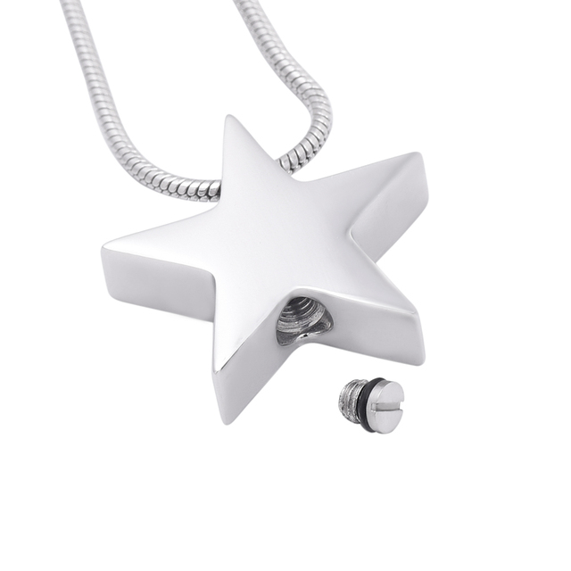 Silver Star Urn Necklace