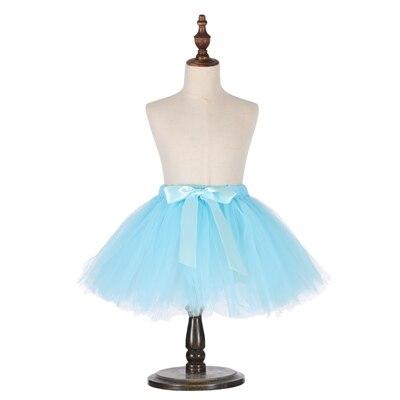 Милые пышные мягкие фатиновые юбки-пачки для малышей; юбка-американка для дня рождения для новорожденных; юбки-пачки для девочек; детские юбки-пачки; одежда для малышей - Цвет: Небесно-голубой