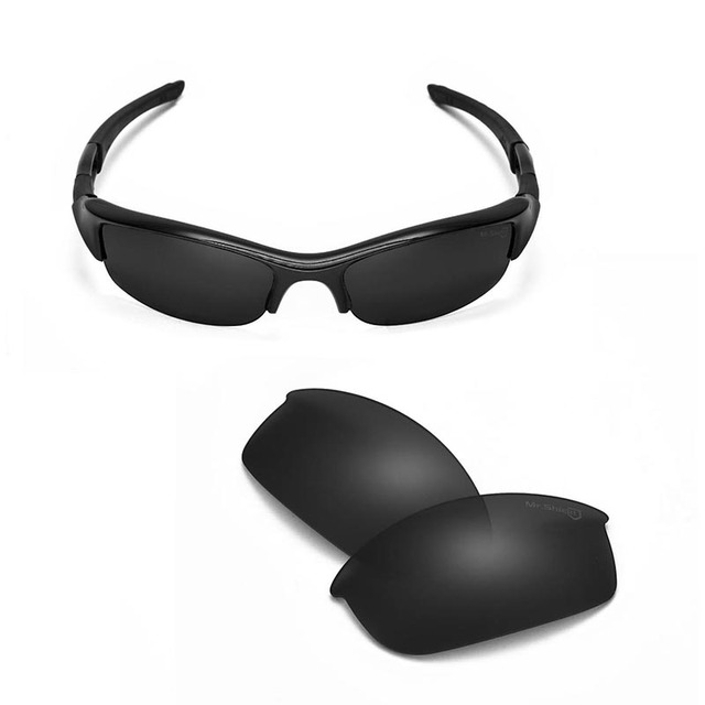 Walleva Mr.Shield  High-Grade Polarized Replacement Lenses for Oakley Flak Jacket Sunglasses 3 colors available