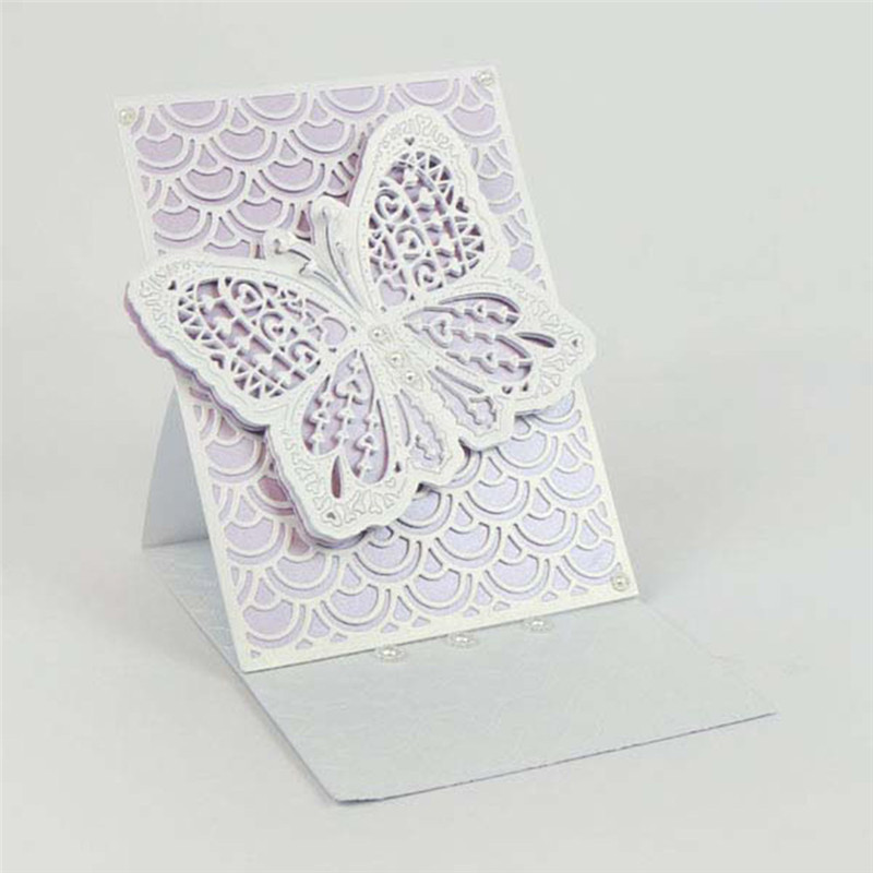 Fish Scale Background Frame Metal Cutting Dies for Scrapbooking New 2019 Craft Dies Embossing Dies Cuts Card Making Stencils DIY in Cutting Dies from Home Garden