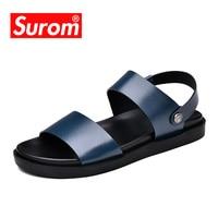SUROM 2018 Nieuwe Zomer Strand Schoenen Fashion heren Cool Sandalen Howllow Slippers Ademend Slippers Mannen Klompen Buiten-in Sandalen voor Mannen van Schoenen op