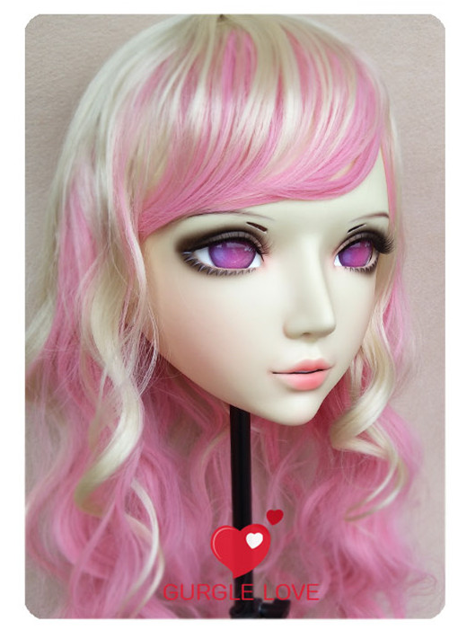 Novelty & Special Use gl048 Sweet Girl Resin Half Head Bjd Kigurumi Mask With Eyes Cosplay Anime Role Lolita Mask Crossdress Doll Strengthening Waist And Sinews