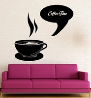 Wall Sticker Vinyl Decal Coffee Time Shop Restaurant Kitchen Decor