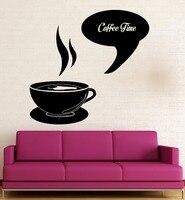 Wall Sticker Vinyl Decal Coffee Time Shop Restaurant Kitchen Decor