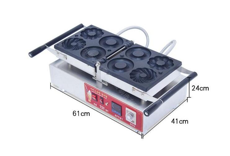 Free shipping Cost 4  shapes donut machine Automatic donut maker 110v 220v p80 panasonic super high cost complete air cutter torches torch head body straigh machine arc starting 12foot