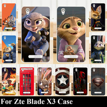 Hard Plastic Case For Zte Blade X3 Mobile Phone Cover Bag Cellphone Housing Shell Skin Mask Color Paint Shipping Free