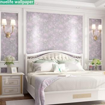 uropean modern pastoral elegant cherry blossom bedroom living room study sofa tea shop TV background wall non-woven wallpaper