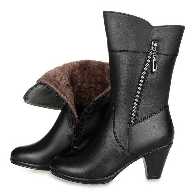 432a50c8b18 ZXRYXGS marca zapatos mujer Caballero botas 2018 nuevo invierno cálido  cómodo nieve botas más tamaño talón