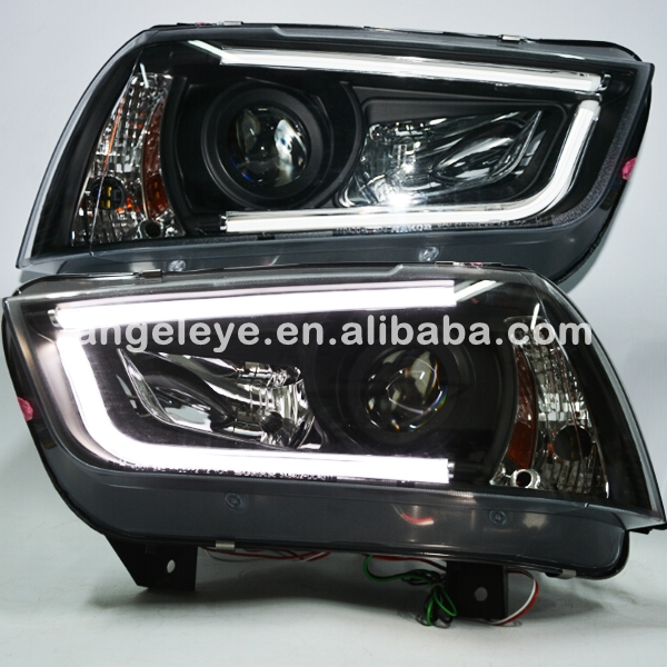 For Dodge charger LED LED strip Head Lamp Black Housing 2011-2014 Year SN