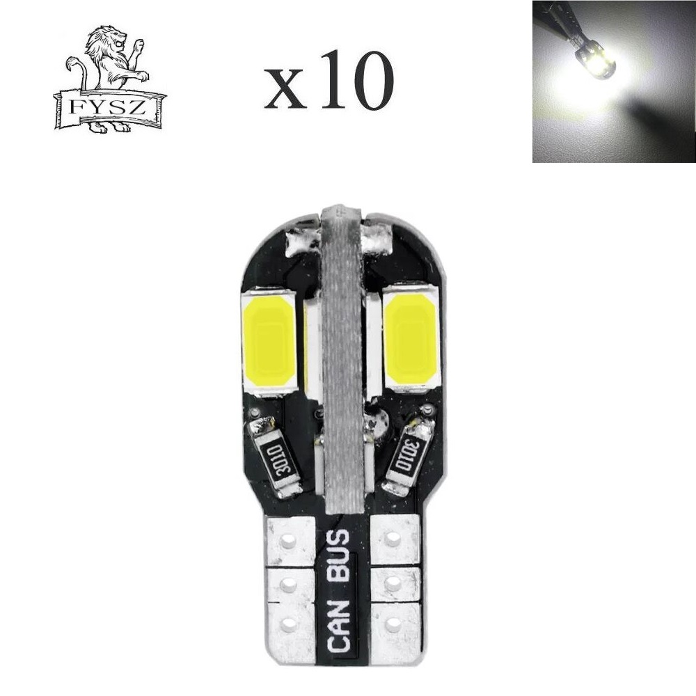 10X T10 12V 4W 8-5630 SMD Canbus LED Clearance / Reading Light Door Lamp