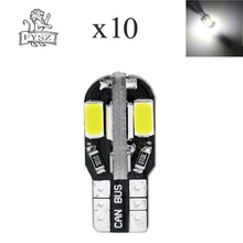 цена на 10X T10 12V 4W 8-5630 SMD Canbus LED Clearance / Reading Light / Door Lamp