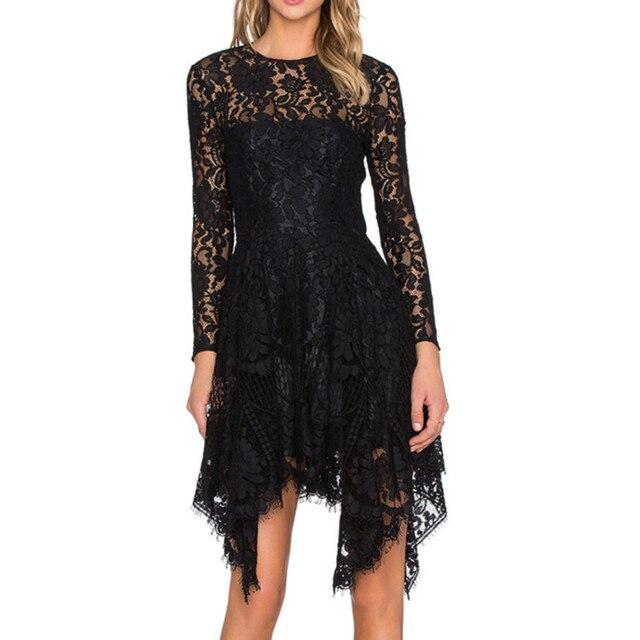 2016 Unique Design Asymmetric Lace Mini Dress for Pregnant Women Black Fashion Party Vestidos
