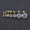 Cubic zirconia stud earrings for women men gold crystal rhinestone earrings stainless steel silver earings for girls small stud
