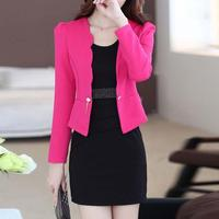 Autumn Spring OL Women Dresses Suits 2016 Fashion Office Women Workwear Blazer And Dress Suit For