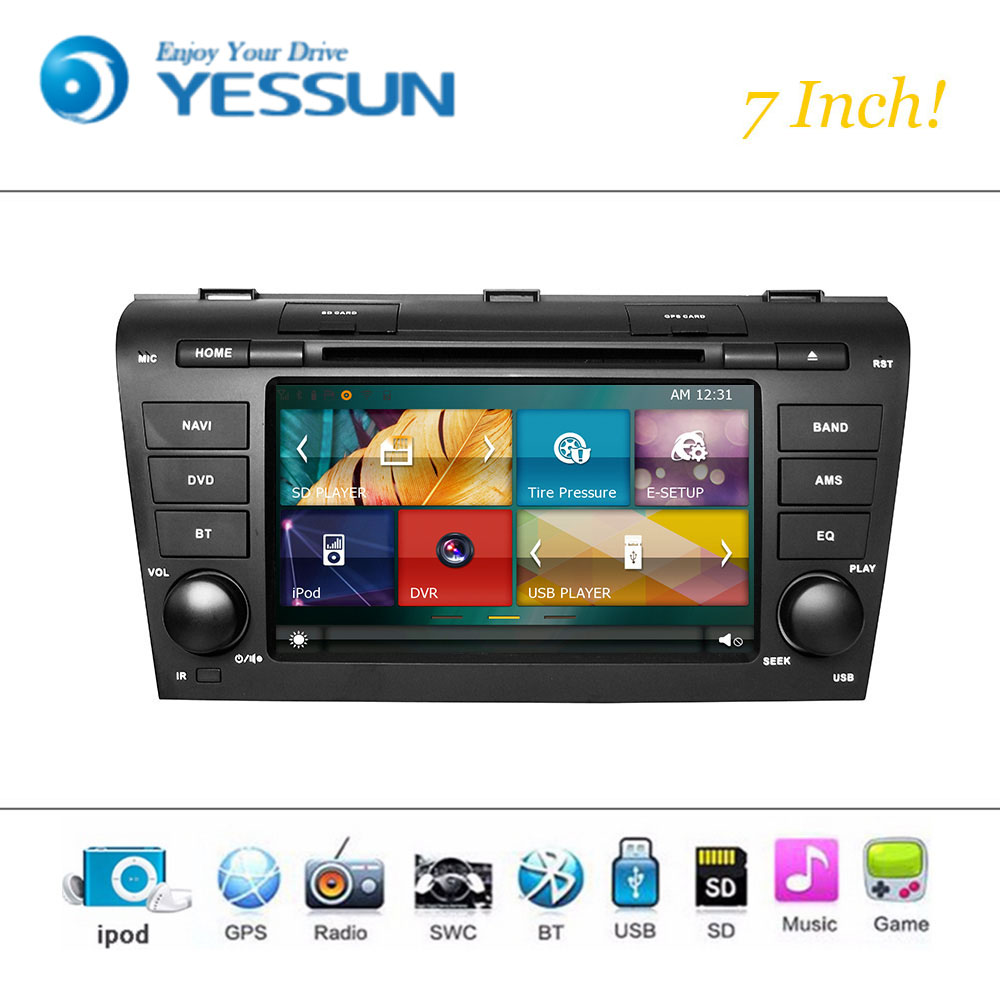 Car DVD Player Wince System For <font><b>Mazda</b></font> <font><b>3</b></font> 2006-2009 Autoradio Car Radio Stereo GPS Navigation <font><b>Multimedia</b></font> Audio Video image