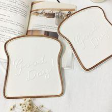18cm Nordic Breakfast Bread Shape Tray  Flat Dish Spice Ceramic Plate Pendulum