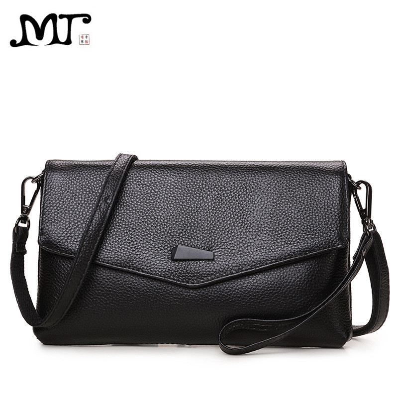 где купить MJ Brand Design Women Bags Fashion Genuine Leather Envelope Day Clutch Female Small Messenger Bags Ladies Crossbody Shoulder Bag дешево