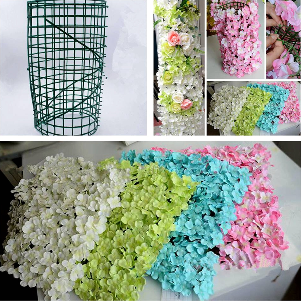 40x60cm Plastic Green Lawn Grid Wedding Party Holiday