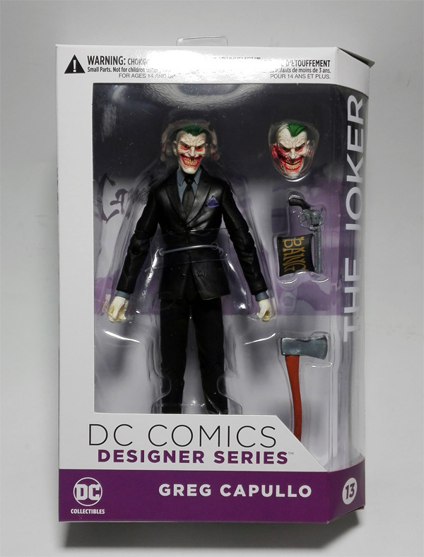 DC COMICS Designer Series DC Collectibles Batman The Joker by Greg Capullo PVC Action Figure Collectible Model Toy 16cm KT3142 dc comics designer series darwyn cooke batman supergirl harley quinn pvc action figure collection model toys 7 18cm