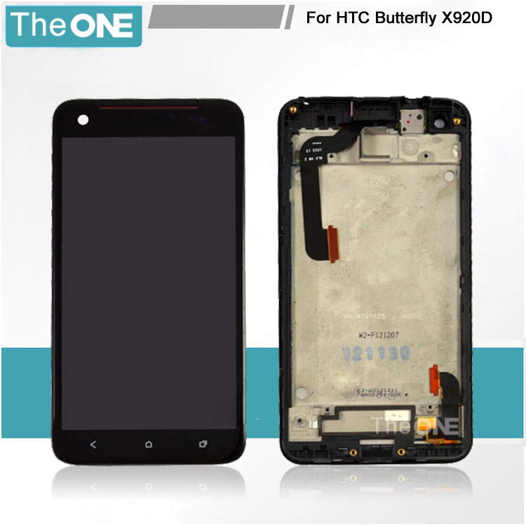 Free DHL LCD screen display+touch digitizer with FRAME For HTC Butterfly X920D  цены