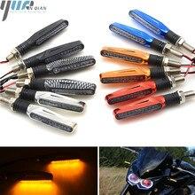 Włącz sygnał świetlny elastyczne Moto światła LED uniwersalne migacze moto krzyż światło dla yamaha YZF R1 R6 R125 dla Honda GROM MSX125