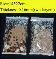 14x22cm 5 5 X8 7 Printed Clear Resealable Plastic Bags Recycled PET Bag With Zipper Wholesale