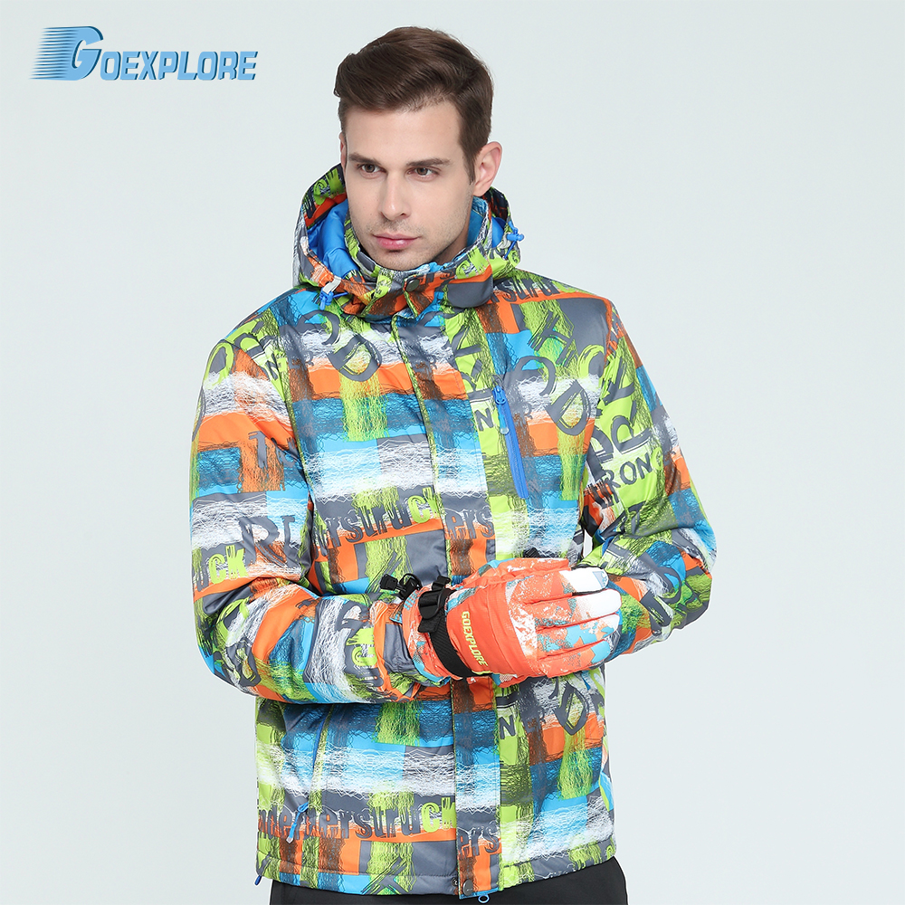 Goexplore Ski Jacket Male 2019 Waterproof Windproof -30 Snowboard Snow Jacket Men Hiking Outdoor Winter Clothes Outerwear
