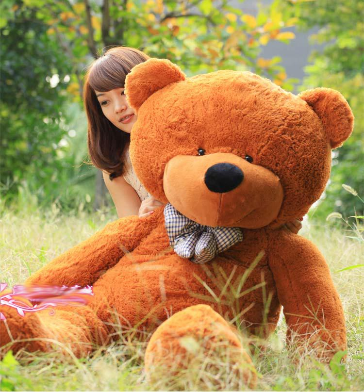 2018 new giant teddy bear 72 inch 180 cm feet teddy bear stuffed light brown giant jumbo. Black Bedroom Furniture Sets. Home Design Ideas