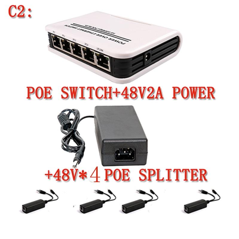 YiiSPO Active 1+4 Port 10/100Mbps standard PoE Switch Power over Ethernet IEEE802.3af 60W 48V for IP Camera 15.4W kit splitter 1 4 port 10 100mbps mini poe switch power over ethernet ieee802 3af 60w 48v poe switch for ip cameras