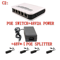 Professional 1 4 Port 10 100Mbps Mini PoE Switch Power Over Ethernet IEEE802 3af 60W 48V