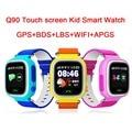 LANGTEK Q90 GPS Touch Screen WIFI Smart Watch Child SOS Location Finder Device Tracker Kid Safe Anti Lost Monitor Smartwatch