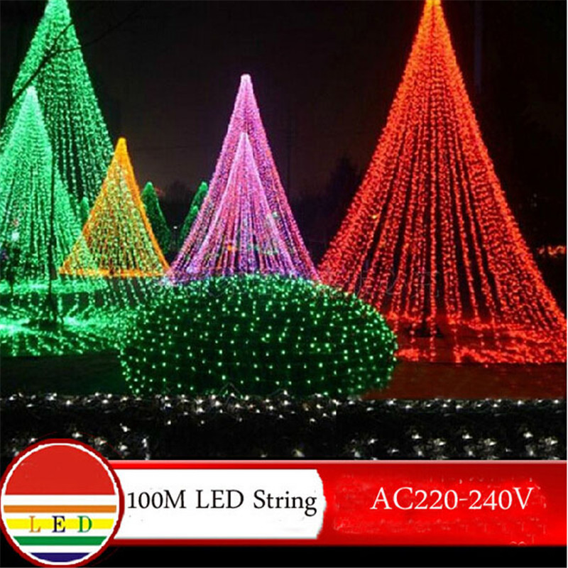 100m white led string light 600leds wedding partying xmas ...