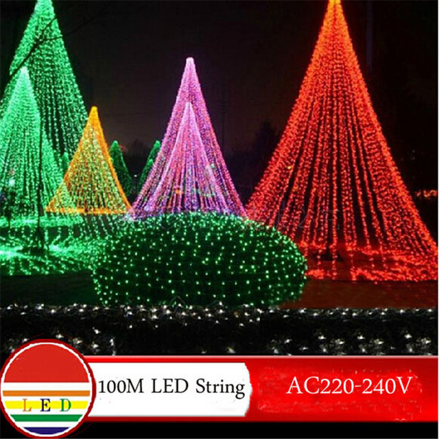 100m white led string light 600leds wedding partying xmas christmas tree decoration lights lighting outdoor waterproof - Decoration Lights