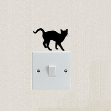 New 3D wall sticker affixed decoration switch walking cat childrens room wallpaper is decorated on the of home