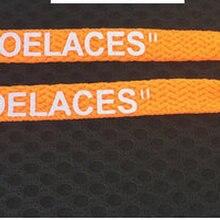 10 цветов, плоские шнурки, черные, белые, оранжевые, зеленые, OW, подписанные шнурки, шнурки для ботинок, овальная веревка, шнурки