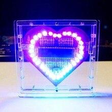 цена на Acrylic Shell Heart-Shaped Night Light Microcontroller Board DIY LED Light Room Decor Gift Table Night Lamp luminaria de mesa