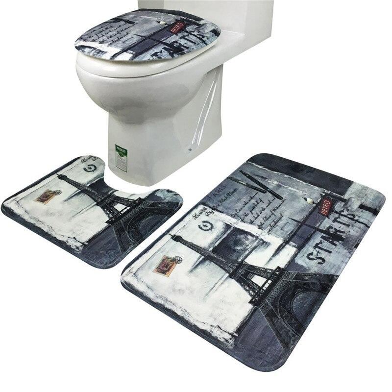 ̿̿̿(•̪ )3Pcs/set Bathroom Non-Slip Eiffel Tower Tower ...